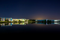 Late Night Long Exposure From Across The Lagoon Of The New Art Of Animation Resort